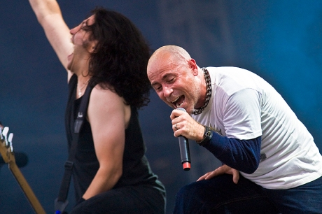 JB with Anthrax at sonisphere